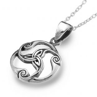 Celtic Trinity Knot Silver Pendant